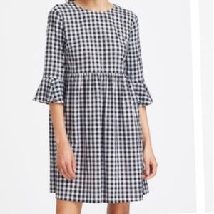 Shein Checked Tie Back Dress Size L